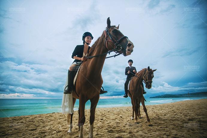 普吉岛08月客照之骑马沙滩