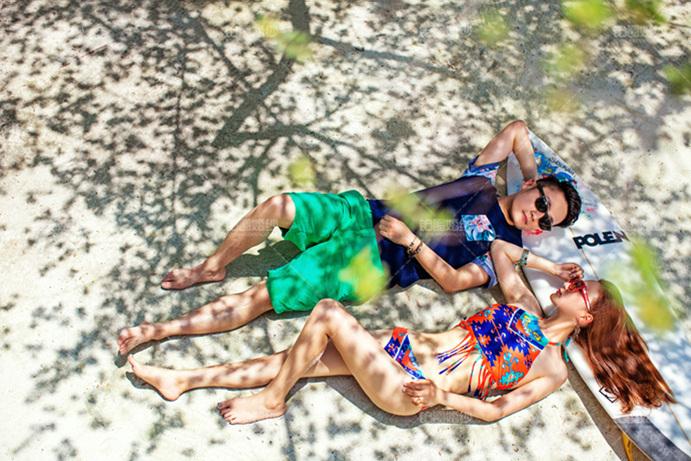 马尔代夫05月客照之晒日光浴