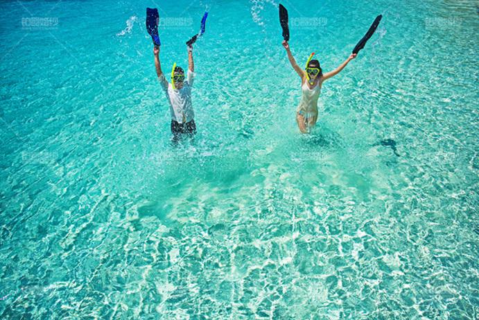 马尔代夫05月客照之玩闹泼水