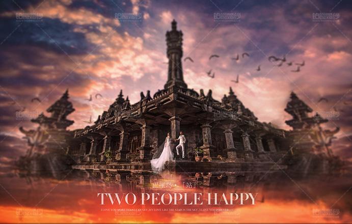 巴厘岛04月客照之神庙下爱人