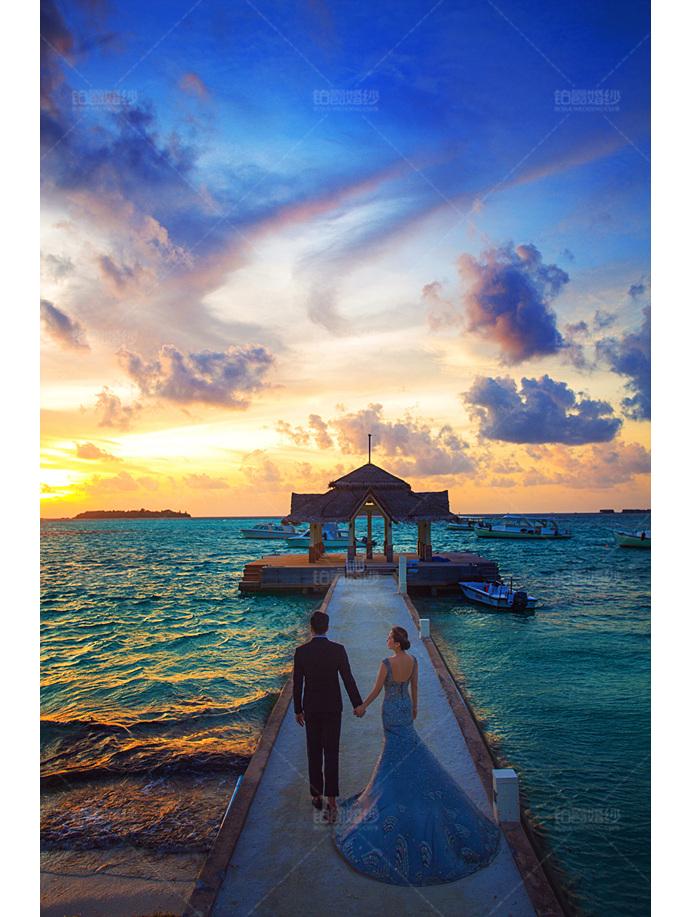 马尔代夫07月之客照牵手去海