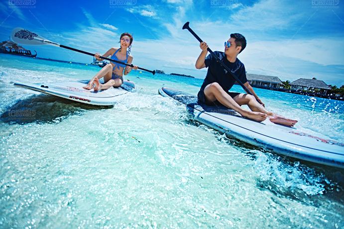 马尔代夫08月客照之划船比快