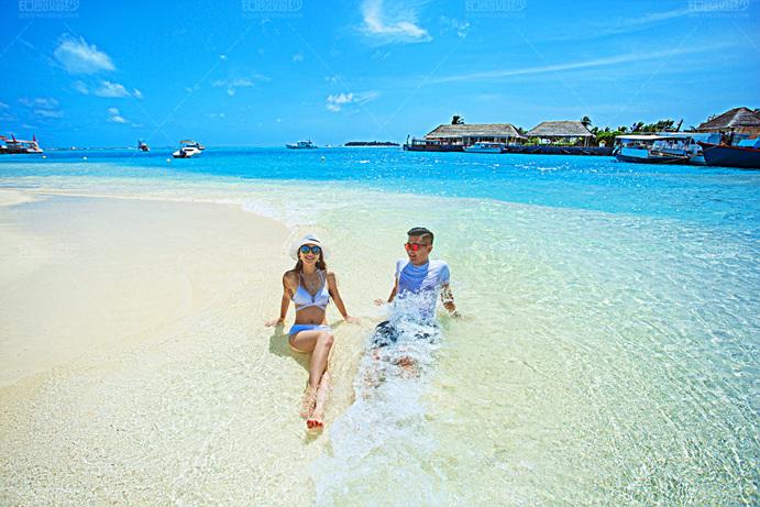 马尔代夫07月客照之沙滩戏水