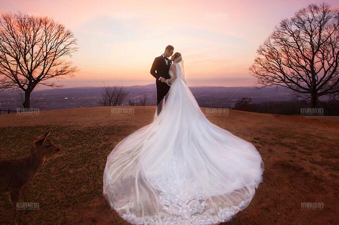 拍婚纱照三种常用的手捧花样式