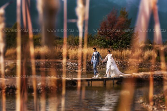 婚纱摄影如何协调人景比例?