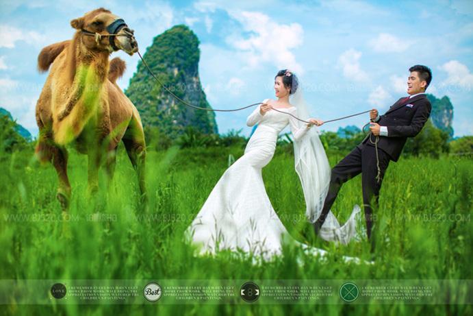 拍外景婚纱照是阴天好还是晴天好?