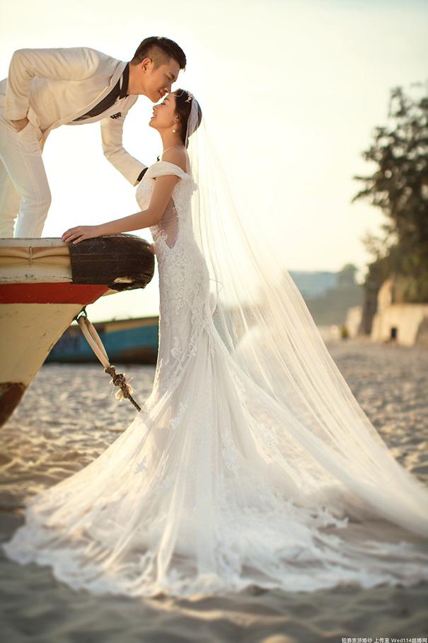 怎么拍年轻人幸福的婚纱照
