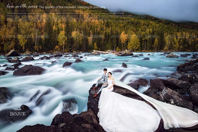 婚纱照如何和背景搭配