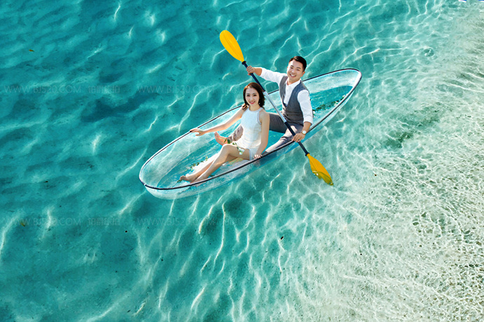 香港婚纱照攻略之水中拍摄婚纱照怎么拍