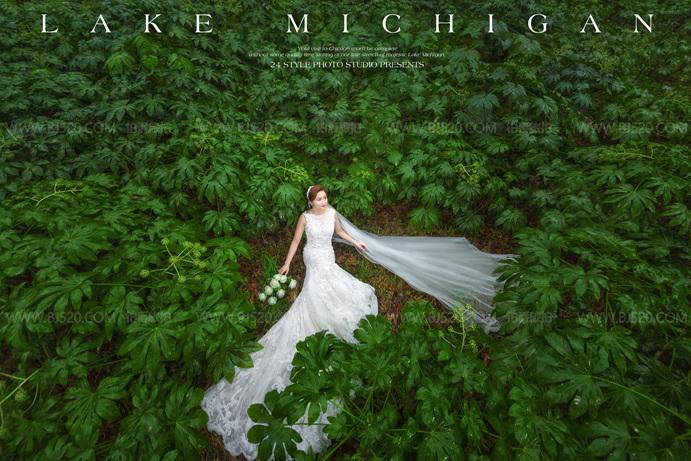 马尔代夫婚纱摄影 植物园温室婚纱照