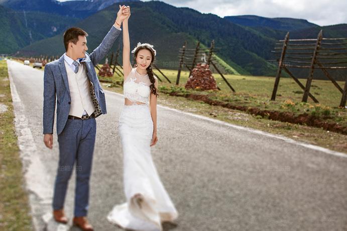 种草香格里拉铂爵旅拍婚纱照