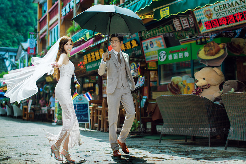 铂爵旅拍桂林婚纱照 一次无悔的选择