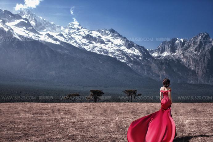 青岛婚纱摄影攻略 伴娘可以穿红色礼服吗