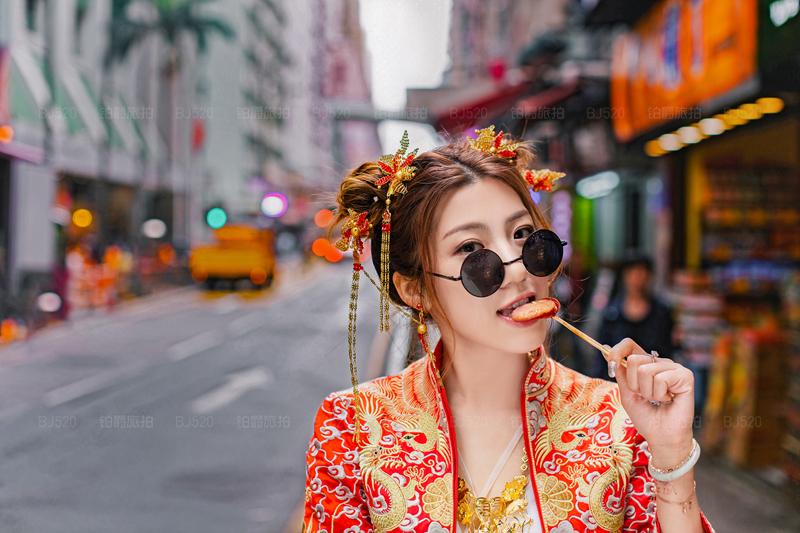 铂爵旅拍香港婚纱照的美丽时光