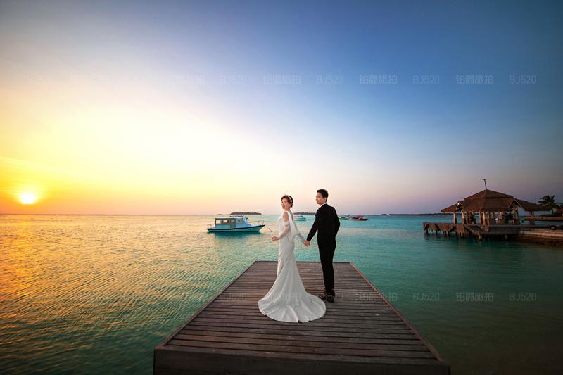 铂爵旅拍马尔代夫婚纱照给我们带来的幸福体验