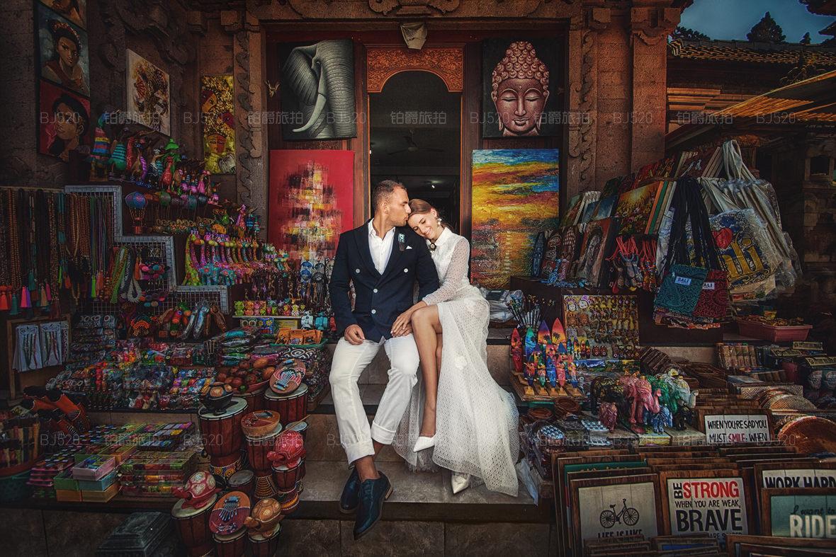 浪漫的花之岛巴厘岛婚纱摄影