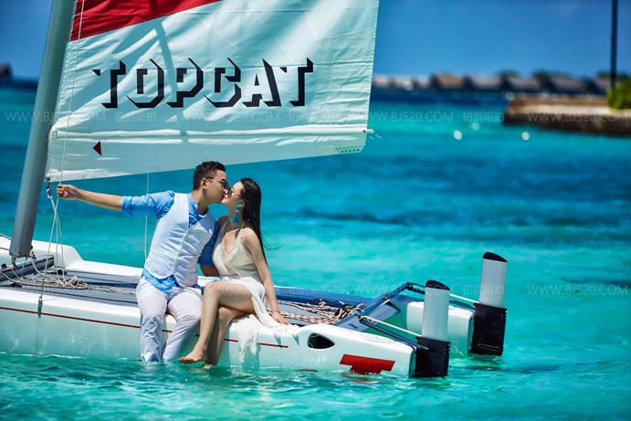 海边婚纱照,开始浪漫人生