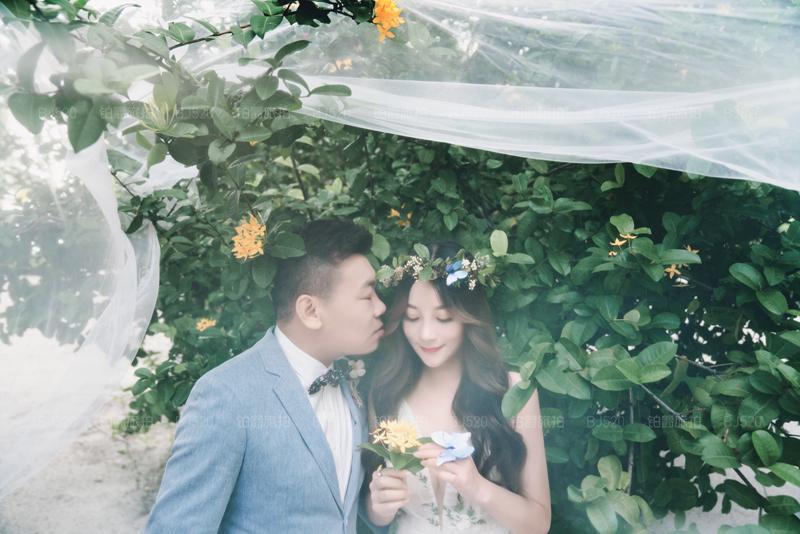 马尔代夫旅拍婚纱照 铂爵旅拍记录了我们的美好