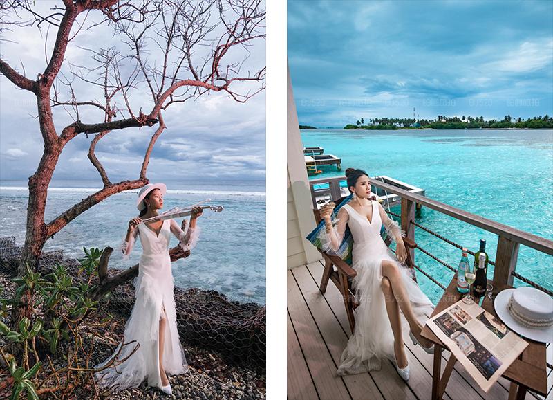 铂爵旅拍婚纱照 完美的马尔代夫之旅