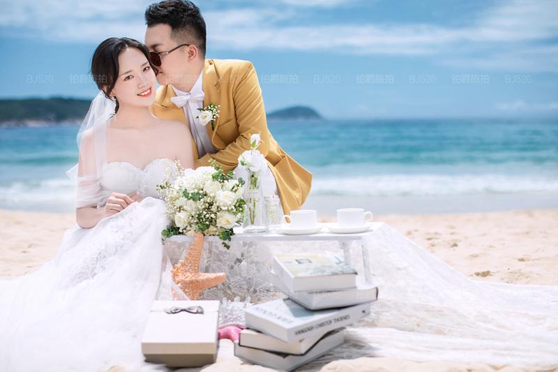 铂爵旅拍婚纱照 记录三亚的阳光和大海
