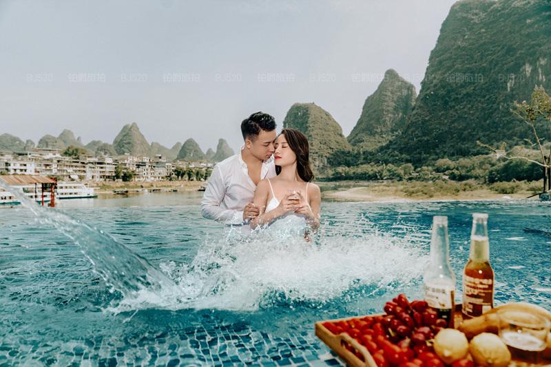 铂爵旅拍婚纱照 记录在桂林的浪漫时光
