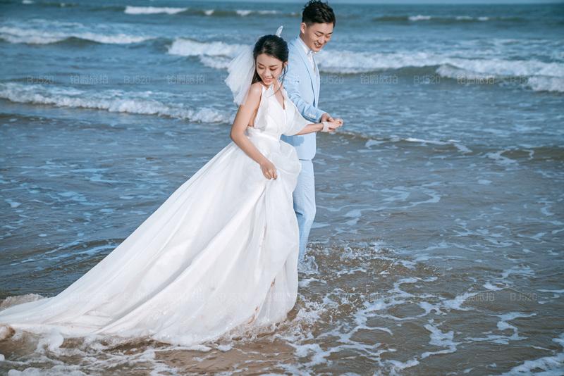 铂爵旅拍婚纱照 记录在青岛的蜜月之旅