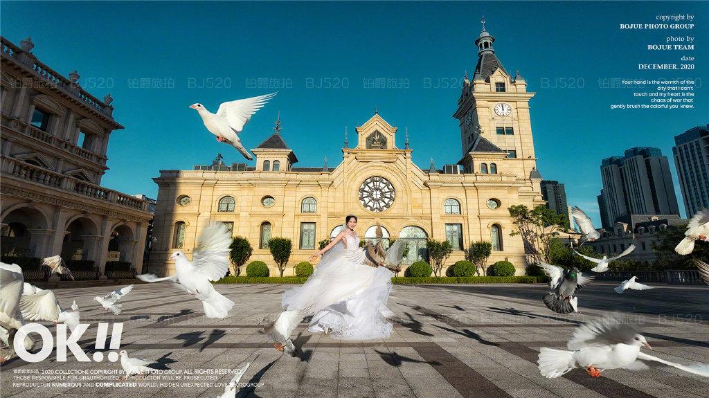 铂爵旅拍大连婚纱照 将欧式浪漫演绎到底