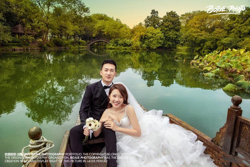 铂爵旅拍杭州婚纱照 记录幸福的旅程