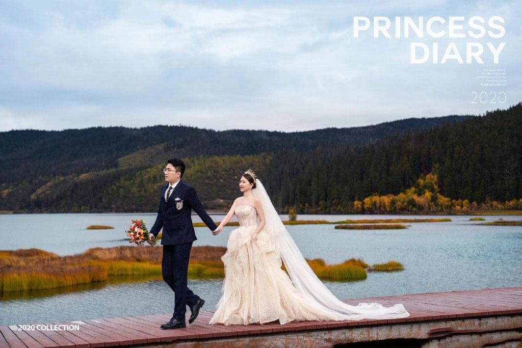 铂爵旅拍婚纱照 浪漫香格里拉婚纱摄影之旅
