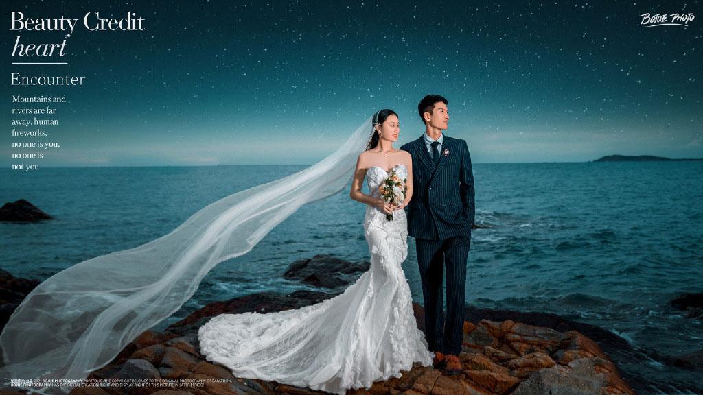 铂爵旅拍婚纱摄影 记录三亚甜蜜之旅