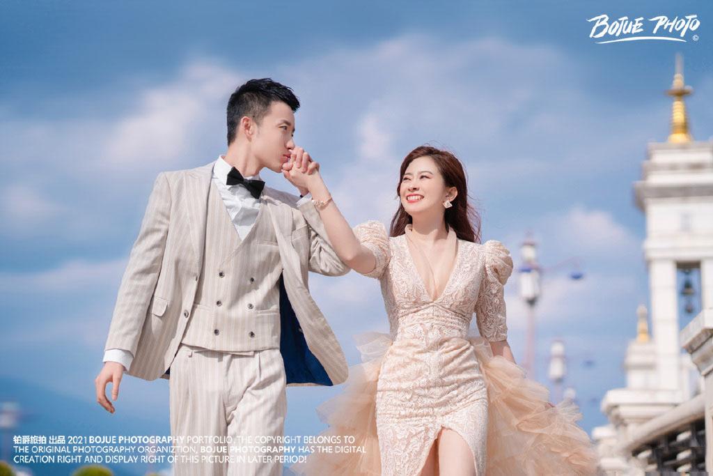 铂爵旅拍婚纱照 在大理的完美婚纱摄影之旅