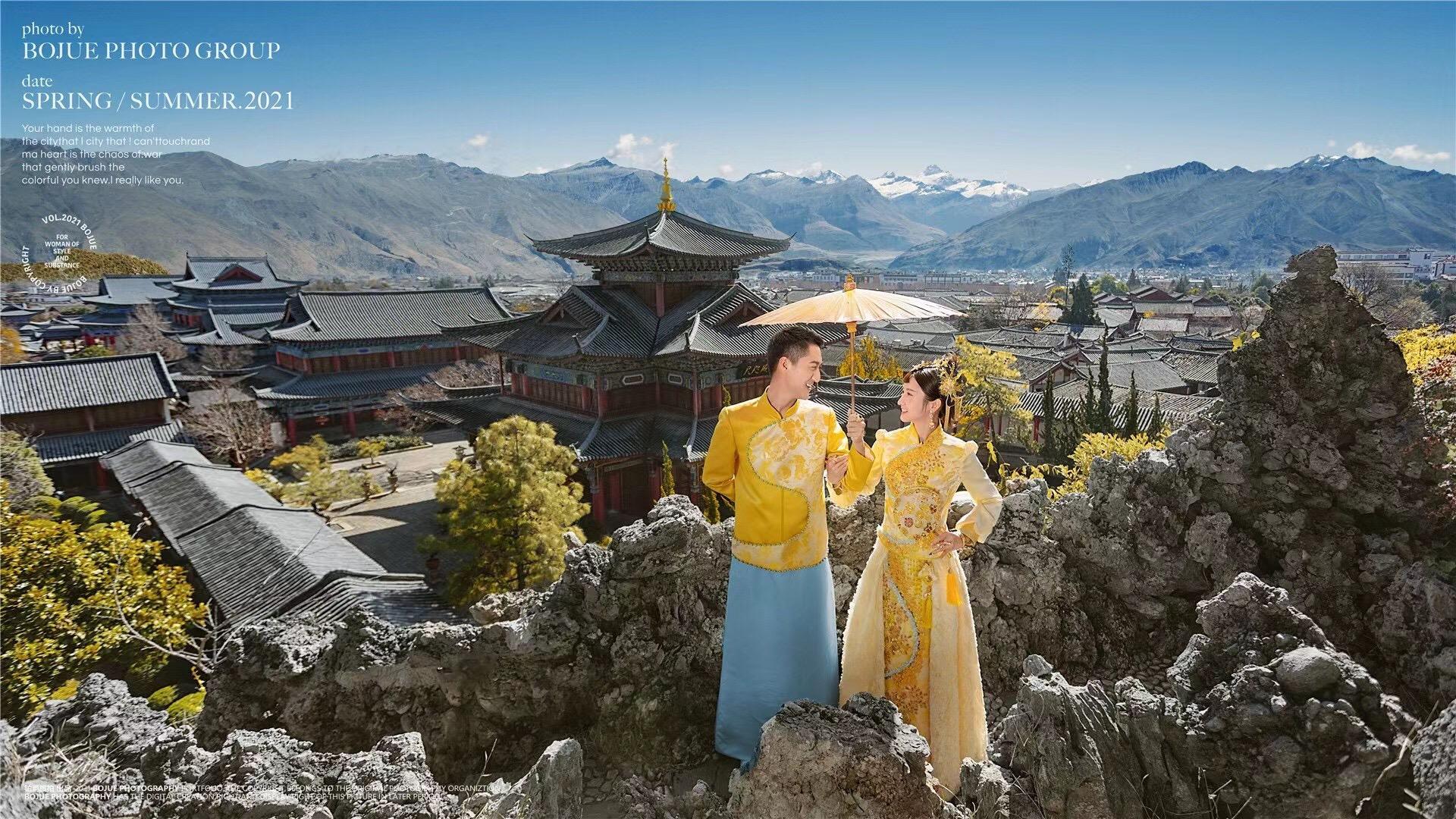 铂爵旅拍丽江婚纱摄影 说走就走的婚纱照旅拍体验