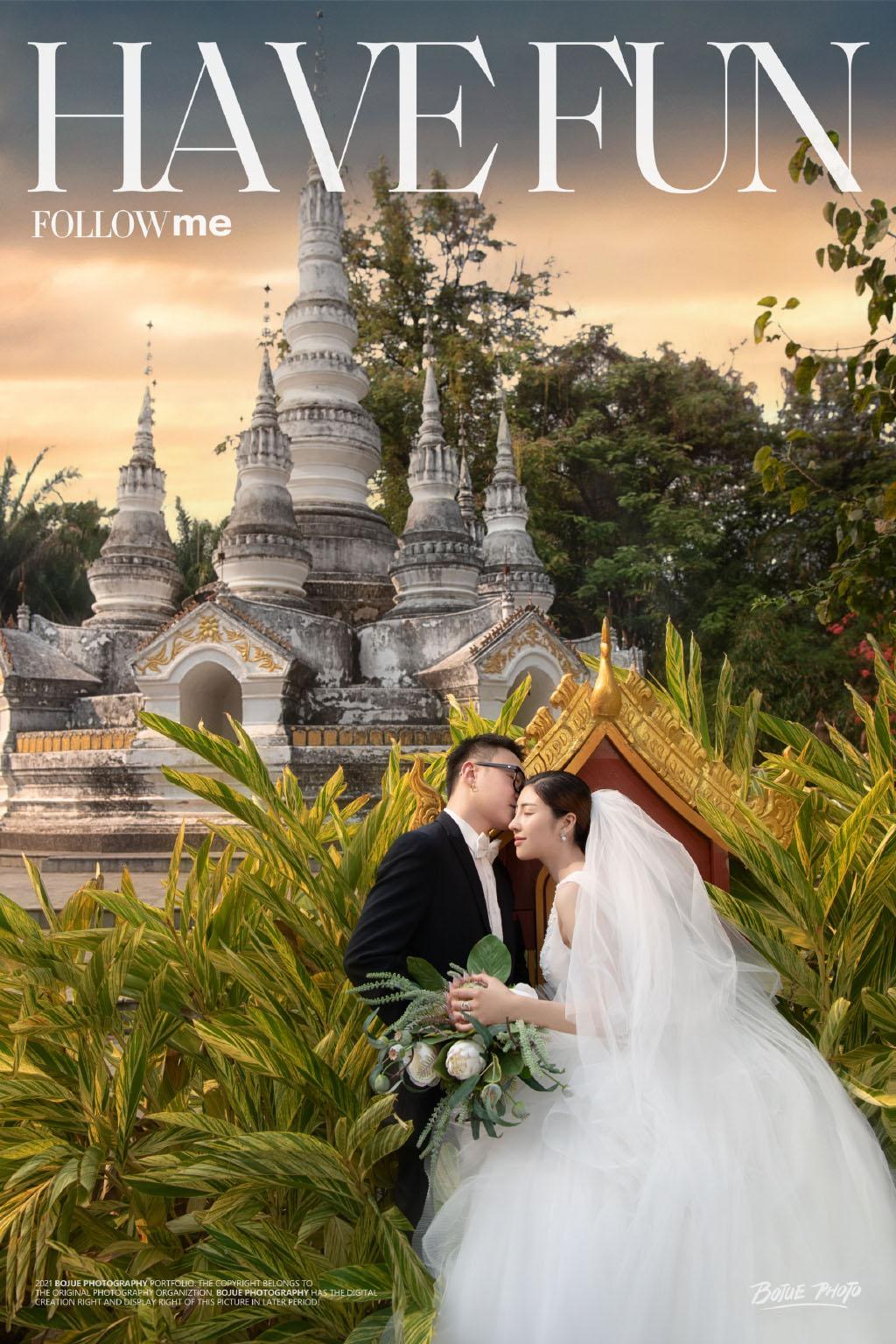 铂爵旅拍婚纱照 将西双版纳的美景装进婚纱照