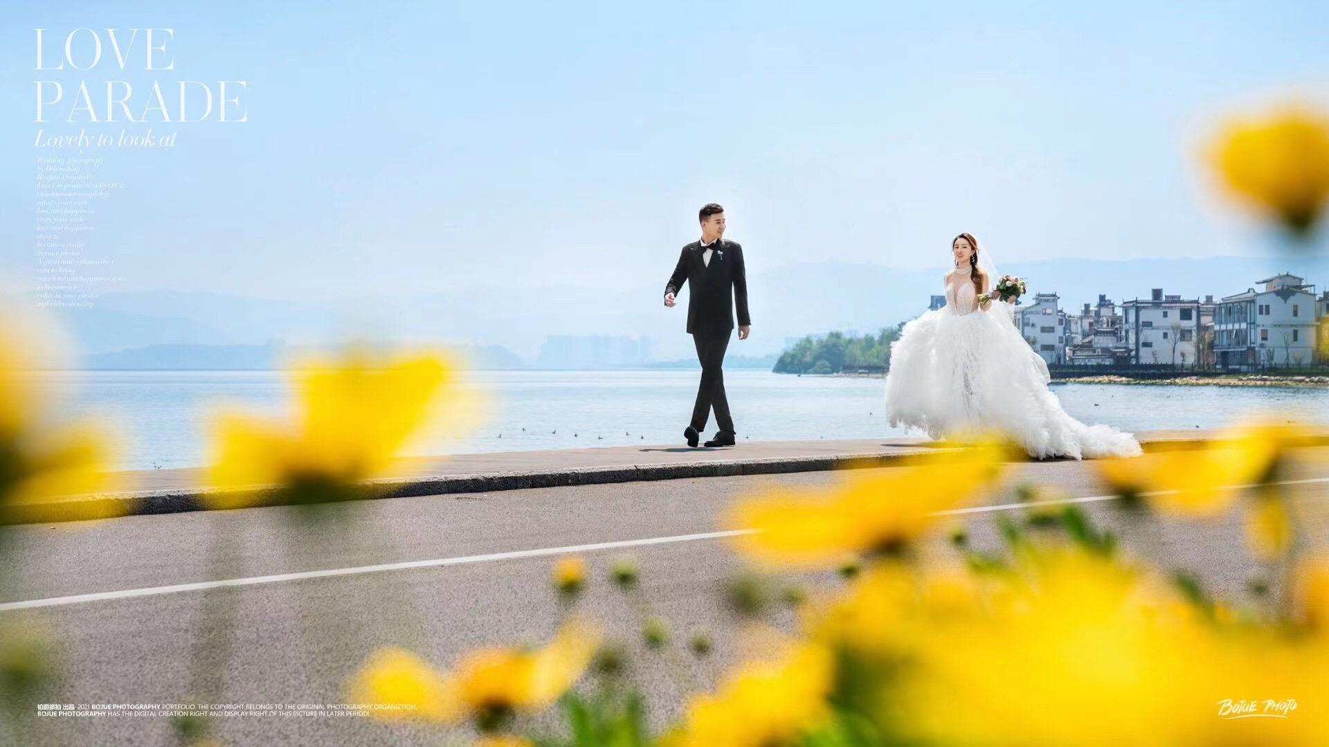 铂爵旅拍大理婚纱照 徜徉花海 满足我们对人间四月天的所有期待