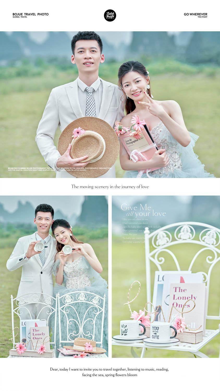 桂林旅拍婚纱照 感受铂爵旅拍婚纱摄影团队贴心的服务