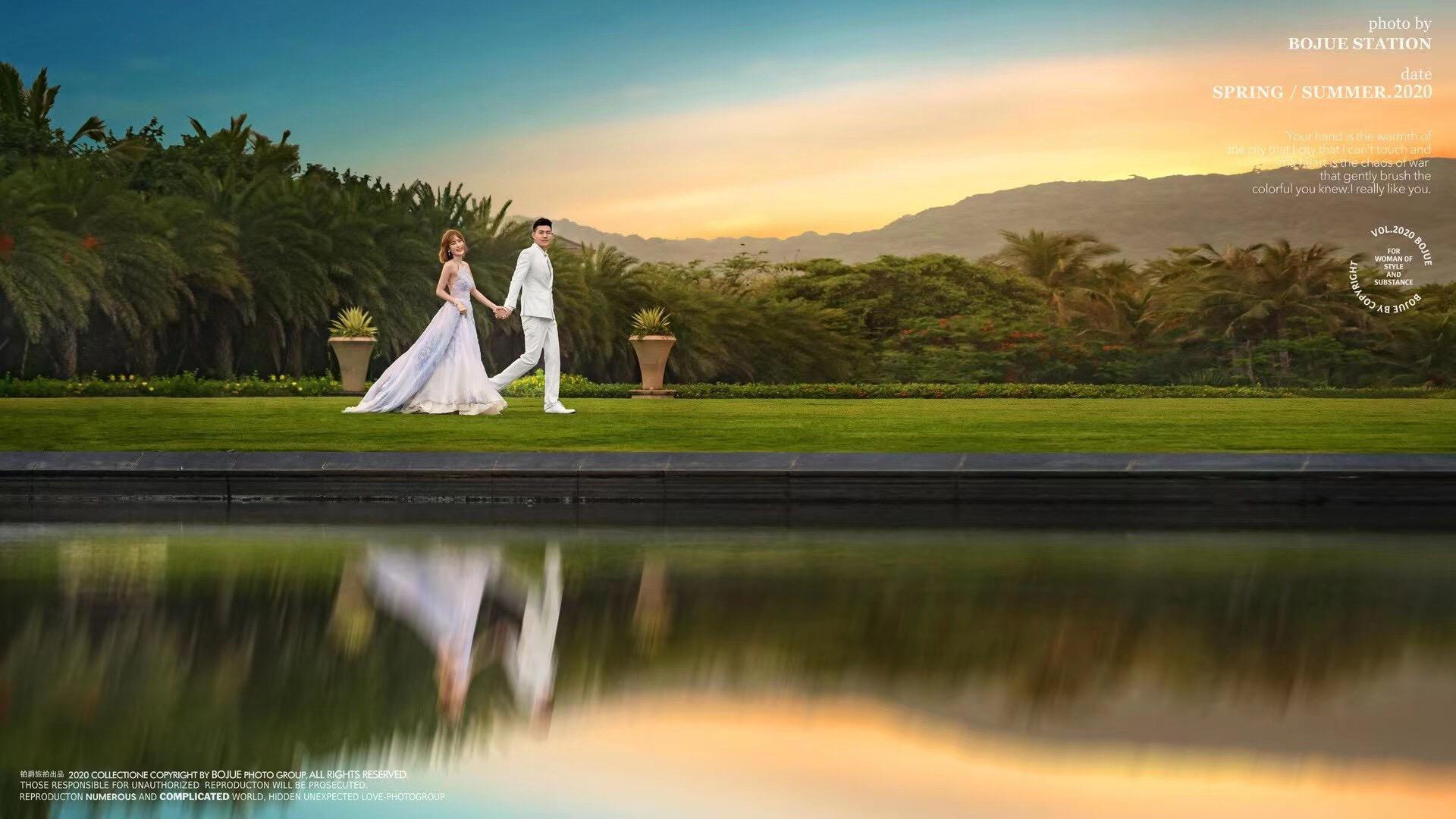 三亚婚纱摄影之旅完美画下句号!感谢铂爵旅拍的用心!