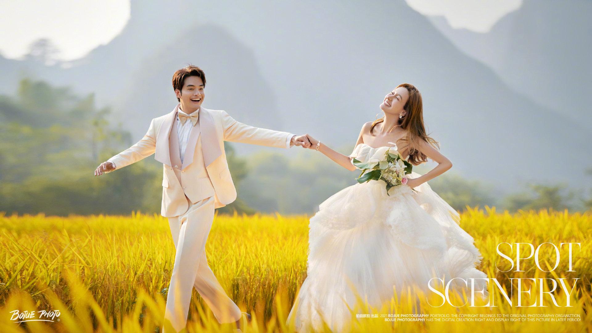 铂爵旅拍婚纱照 记录桂林蜜月之旅