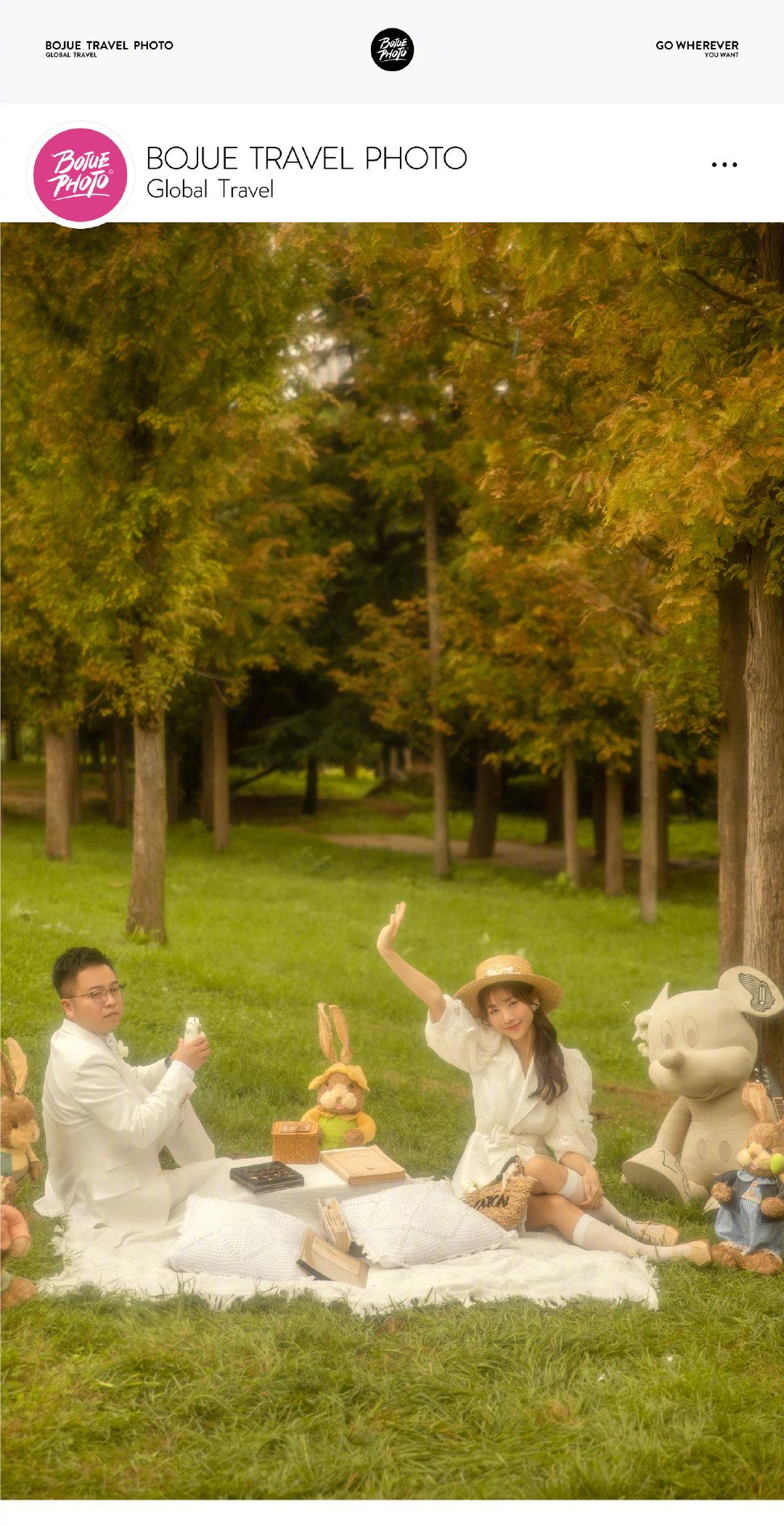 铂爵旅拍大连婚纱照 一次快乐的拍摄体验